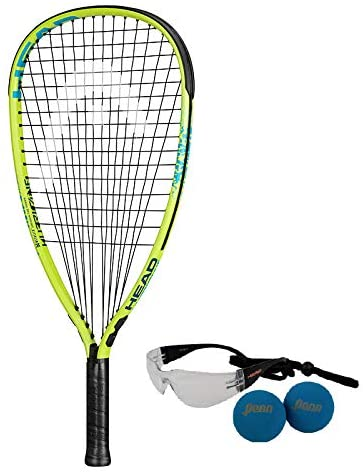 HEAD MX Hurricane Racquetball Pack, Strung, 3 5/8 Inch Grip